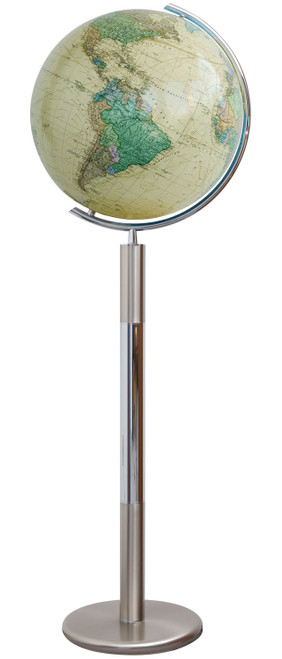 """The Hannover Royal 16"""" Crystal Glass Floor Globe"""