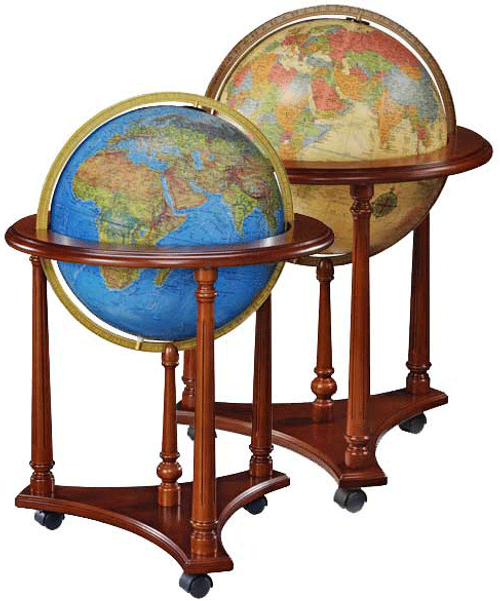 Lafayette Floor Standing Globe offered in two colors