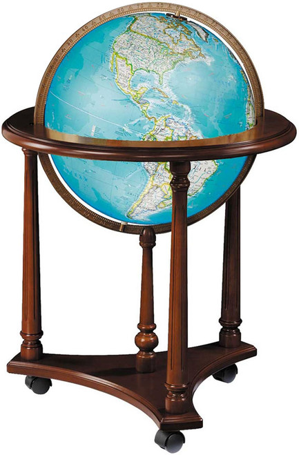 "The Kingsley 16"" Illuminated Floor Globe"