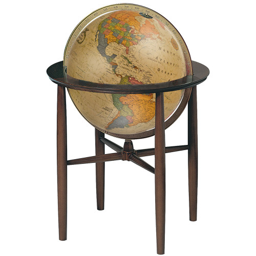 Austin Floor Globe - Antique Ocean