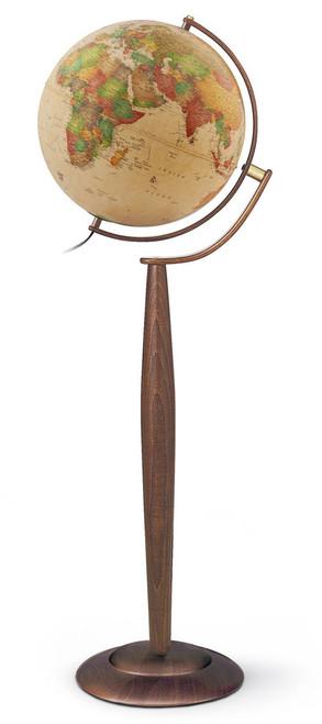 """The Lyon 15"""" Illuminated Floor Globe"""
