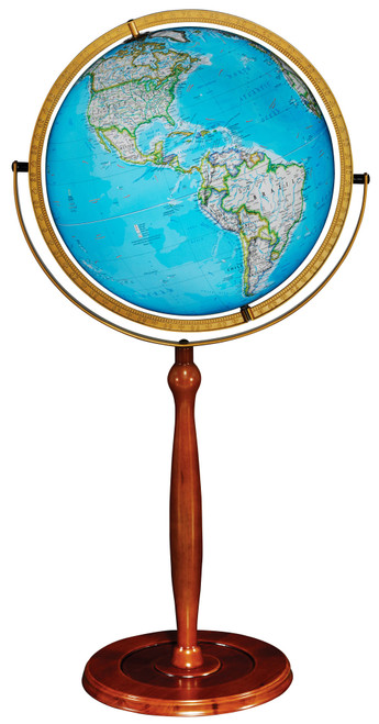 "The Chamberlin 16"" Illuminated Floor Globe from National Geographic"