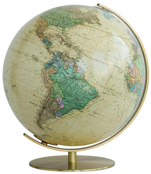 "The Vienna 16"" Antique Ocean Political Desk Globe"