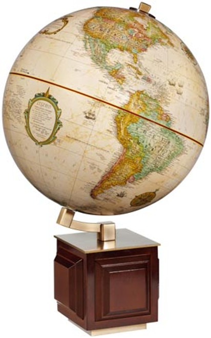 Four Square Tabletop Globe