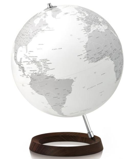 Full Circle Reflection Illuminated Globe - White Oceans - from Atmosphere Globemakers