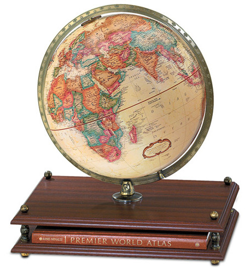 "The Premier 12"" Globe with Rand McNally Atlas"