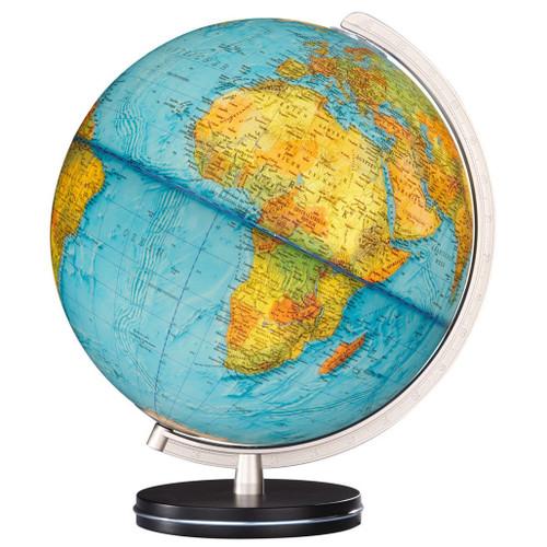 "The Jena 13"" Illuminated Physical/Political Globe"