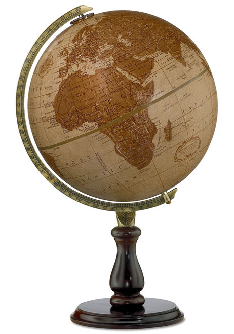 "The Leather Expedition 12"" Desk Globe"