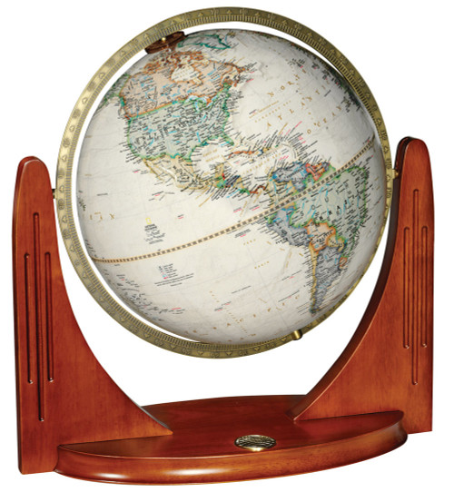 "The Compass Star 12"" Raised Relief Desk Globe from National Geographic"