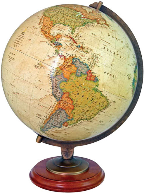 "The Adams 12"" Political Desk Globe"