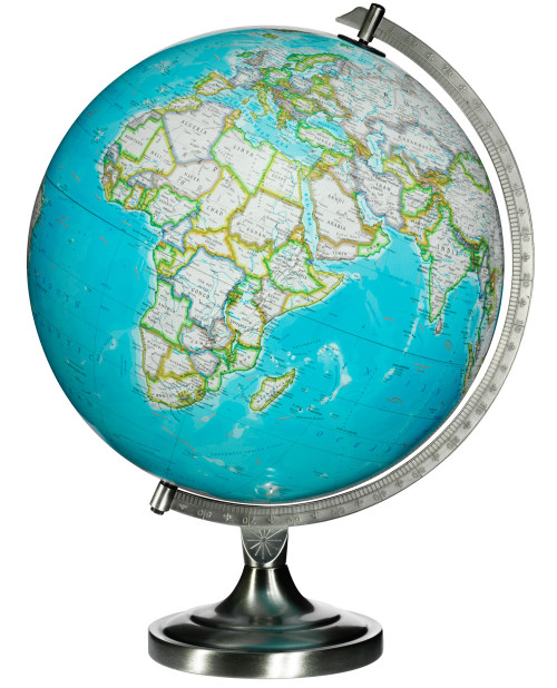 "The Bowers 12"" Illuminated Desk Globe from National Geographic"