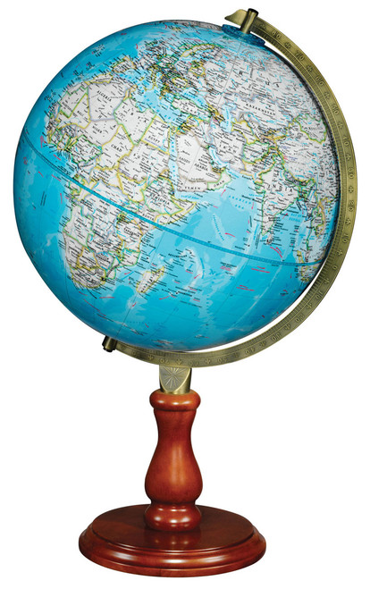 "The Hudson 12"" Raised Relief Desk Globe from National Geographic"