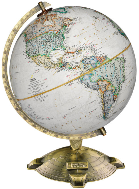 """The Allanson 12"""" Raised Relief Desk Globe from National Geographic"""