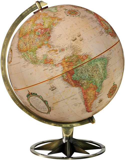 "The Compass Rose 12"" Desk Globe"