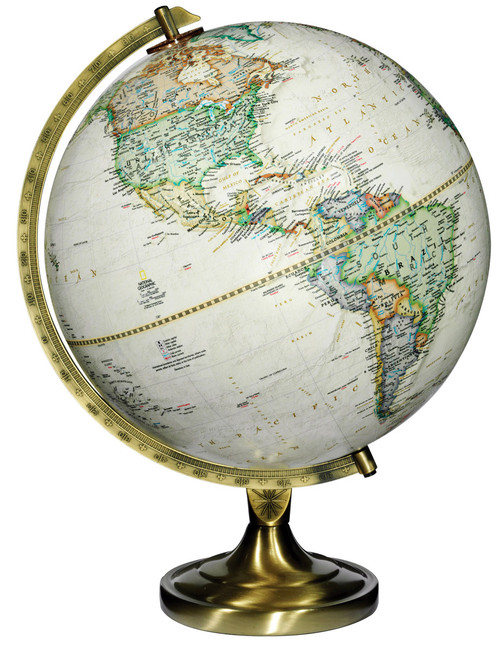 """The Grosvenor 12"""" Raised Relief Desk Globe from National Geographic"""