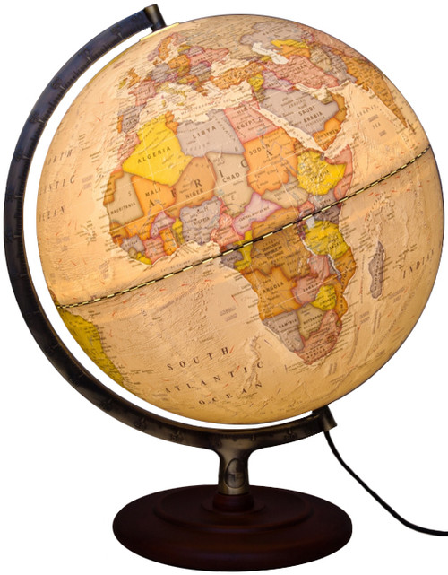 "The Ambassador II 12"" Political Illuminated Globe"