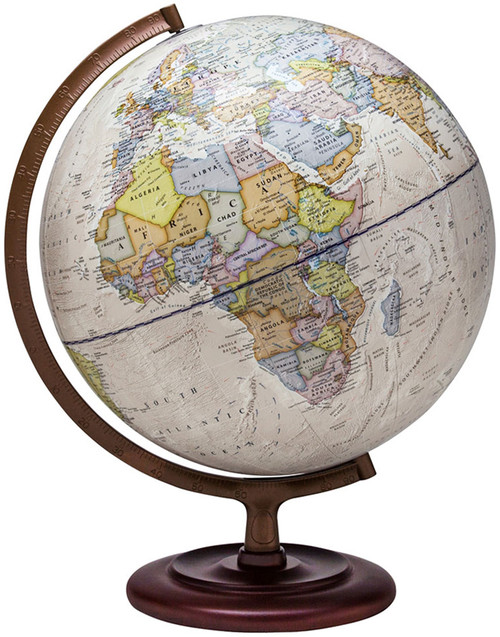 "The Ambassador 12"" Political Globe"