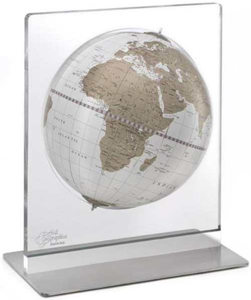 Aria Desk Globe - White Ocean