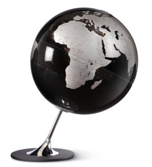 Anglo Globe - Black Oceans - from Atmosphere Globemakers