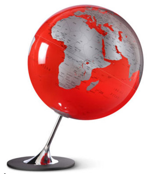 Anglo Globe - Red Oceans - from Atmosphere Globemakers