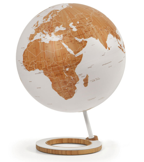 "Bamboo 10"" Globe - White Oceans - from Atmosphere Globemakers"
