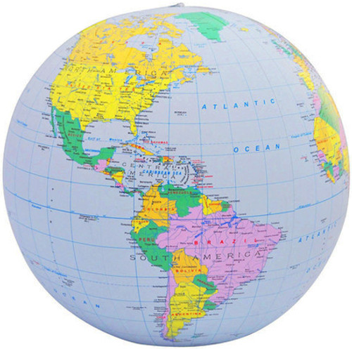 "16"" Blue Ocean Inflatable Political Globe"