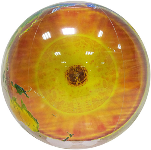 "34"" Earth's Core Topographical Inflatable Globe"