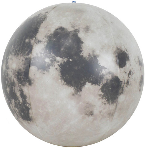 "12"" Glow in the Dark Inflatable Illuminated Moon Globe"
