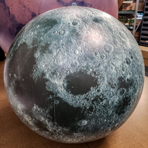 7' Satellite Image Inflatable Moon Globe