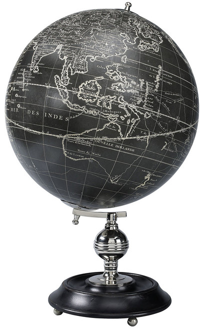 Black & White Vaugondy Desk Globe - 1745 Reproduction