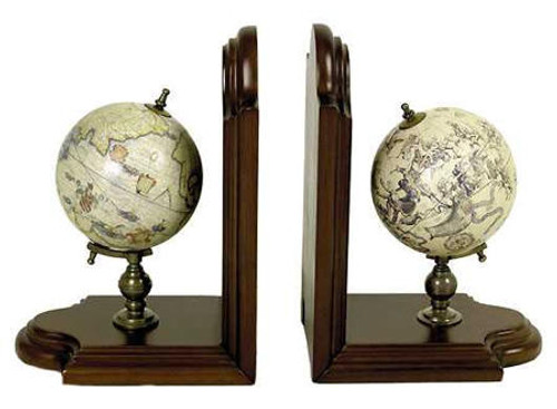 Globe Bookends - Celestial and Terrestrial Mercator Globes