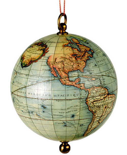 Old World Globe Ornament - Vaugondy, 1745