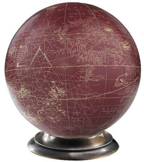 Red/Ivory Globe - Mercator, 1541