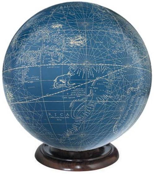 Blue/Ivory Globe - Mercator, 1541