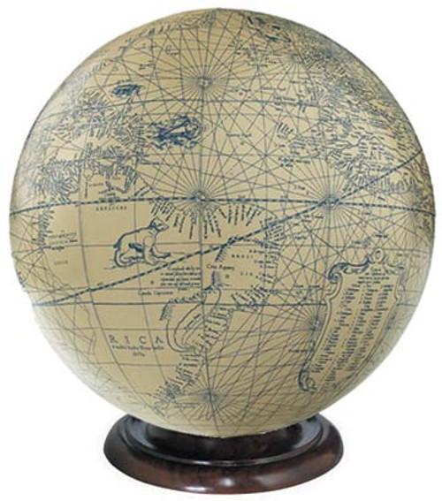 Ivory/Blue Globe - Mercator, 1541