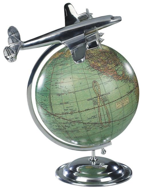 Vintage Globe with Airplane