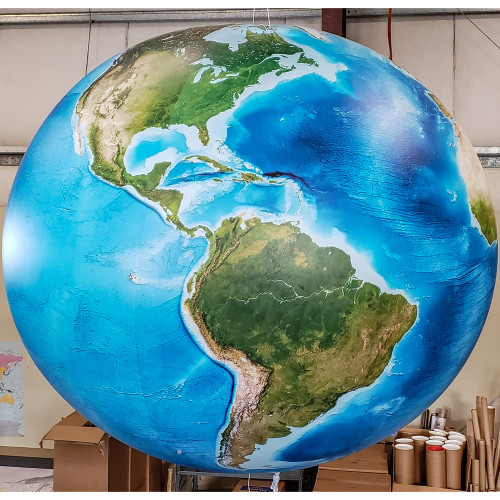 10' Enhanced Satellite Image Inflatable Globe