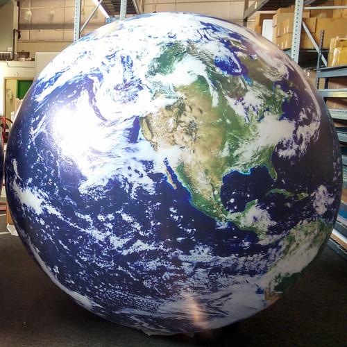10' Satellite Image Inflatable Globe