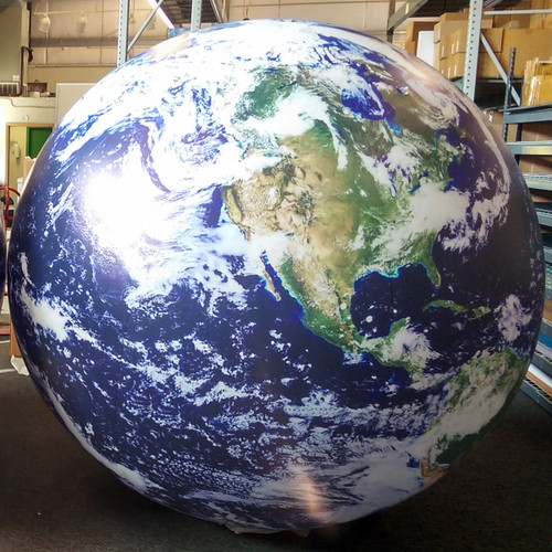 7' Satellite Image Inflatable Globe