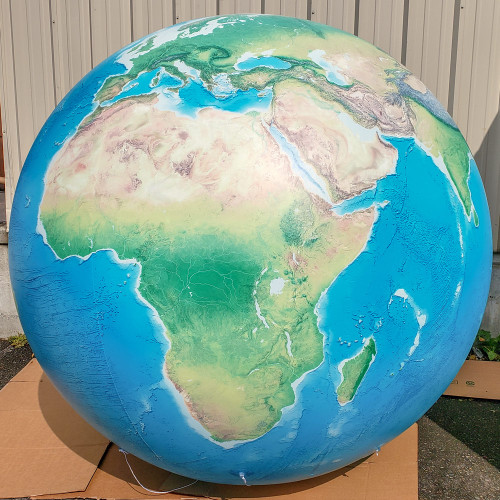 7' Natural Earth Inflatable Globe