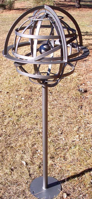 Steel Armillary Sphere Sculpture
