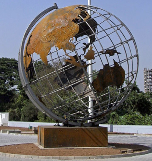 20' diameter custom steel globe
