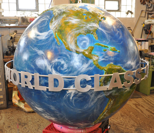 Custom Raised Relief Globes