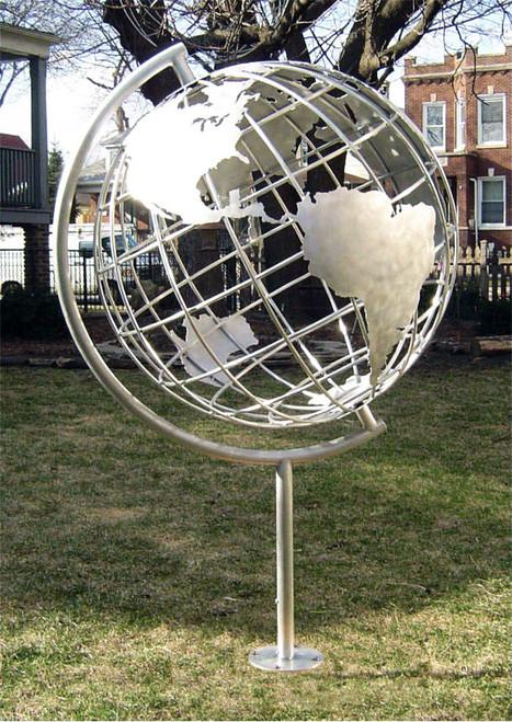 Globe Garden Sculpture - Garden Globe