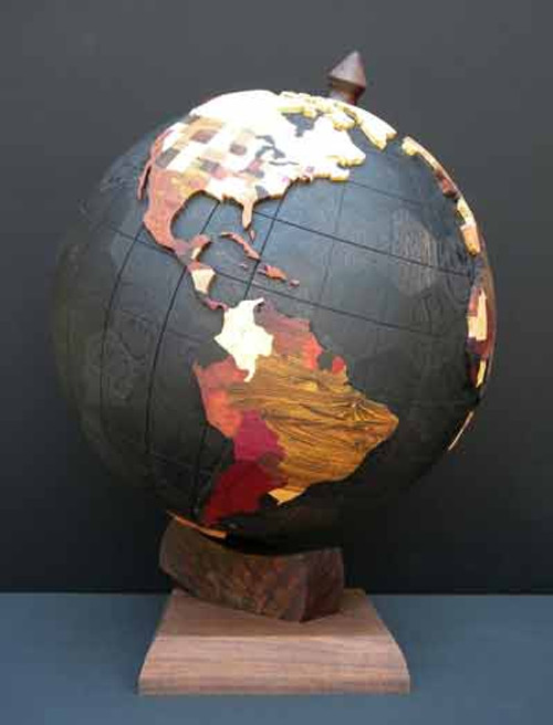 Custom Hand-crafted Wooden Globes