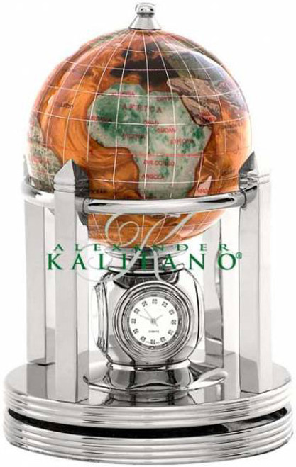 Copper Amber Gemstone Globe with