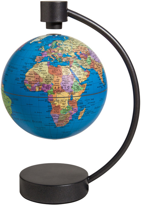 "6"" Blue Ocean Political Levitating Globe"