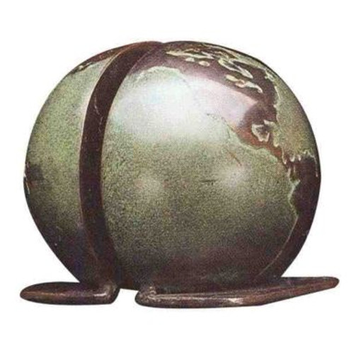 Bronze Globe Bookends