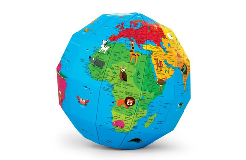 World of Animals Polygon Folding Globe