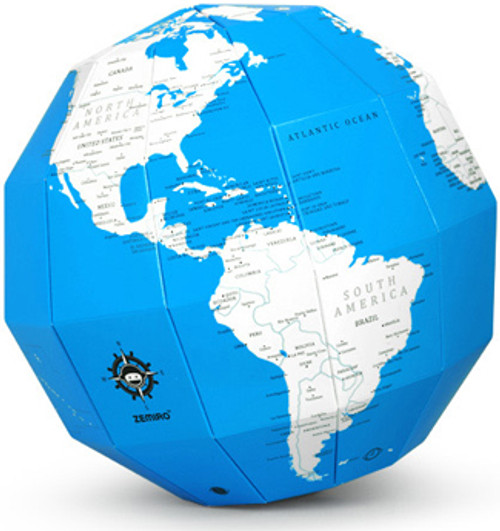 Blue Dry Erase Polygon Folding Globe